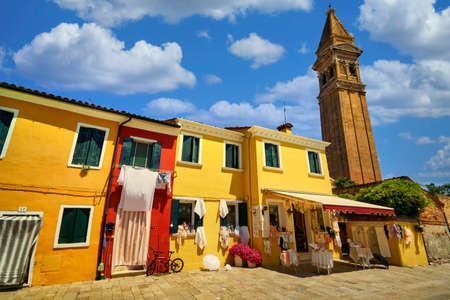 Burano village traditional vivid colorful houses vibrant colors island tourism landmark cityscape