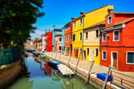 Burano traditional vivid colorful houses vibrant colors island tourism landmark cityscape