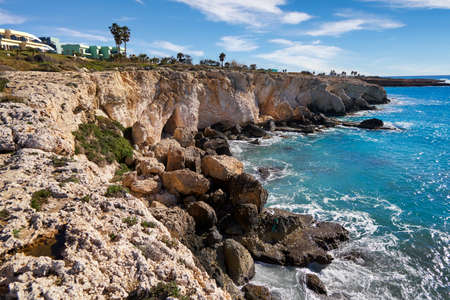 Ayia Napa Cyprus beach sea lagoon famous travel destination coast panorama Archivio Fotografico