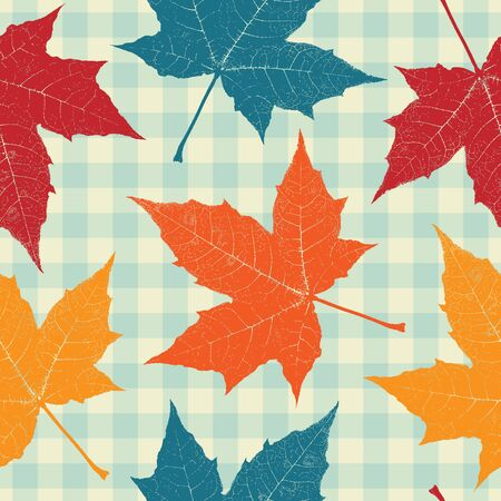 Colored autumn leaves seamless pattern Stock Vector - 15091135