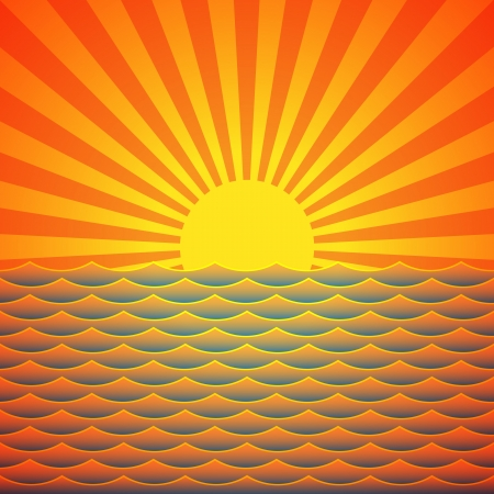 Marine sunrise Stock Vector - 15609553