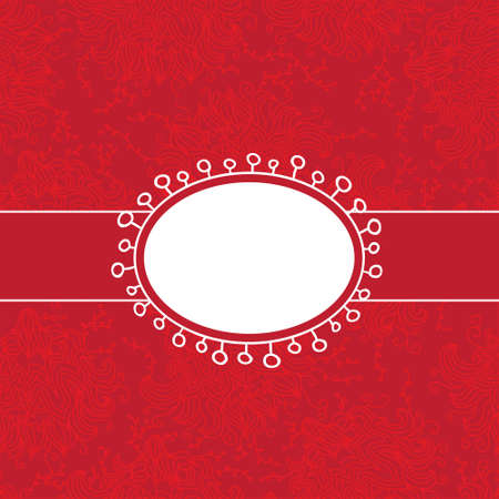 Vector red vintage invitation template Illustration