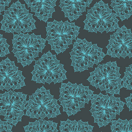 Blue seamless pattern Illustration