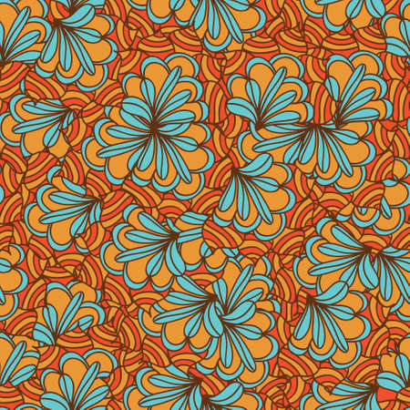 Seamless colourful psychedelic pattern