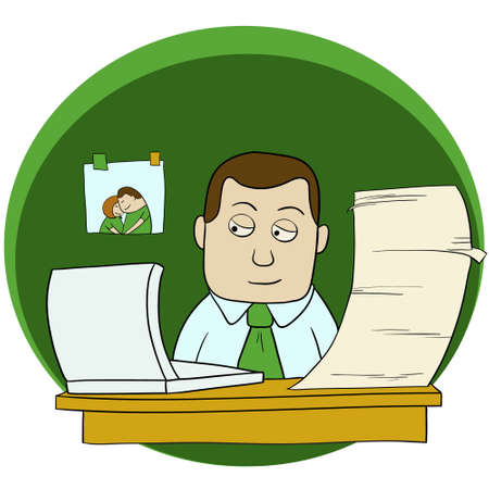Cartoon office man Vector