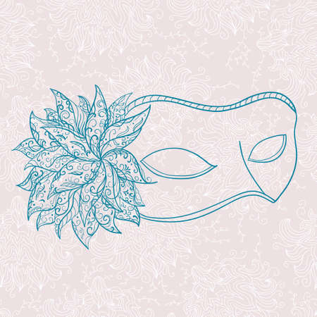 ornate mask Vector