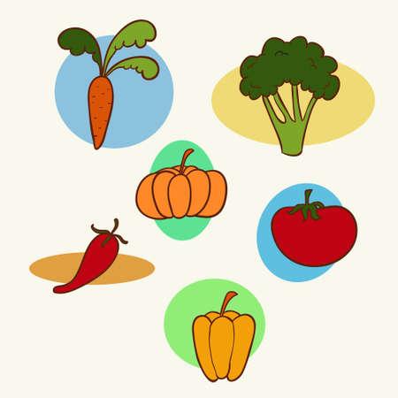 Set of garden vegetables
