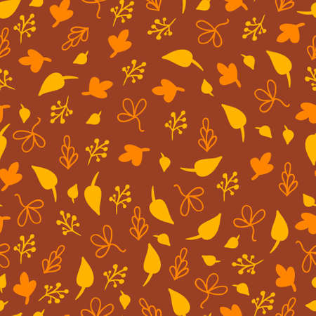 Autumn seamless background with leaves Stock Vector - 22071298