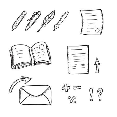 Pens and pencils vector set
