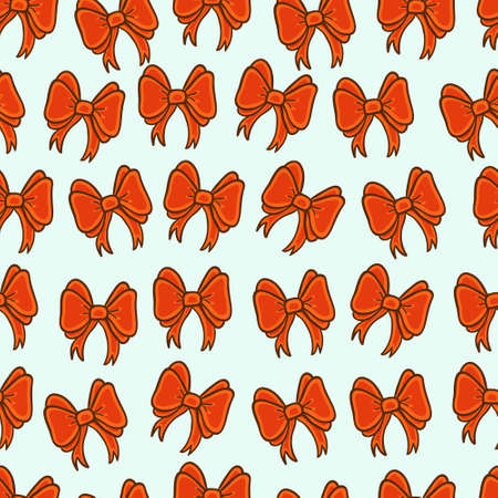 Cute red bow seamless background