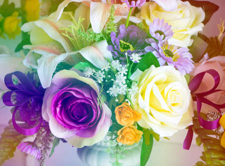 bouquet of roses with gradient for background. Stock Photo