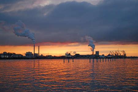 noord: Sunset in Amsterdam-Noord