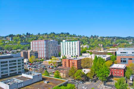 garden settlement: Portland Oregon West Hills Blue Skies