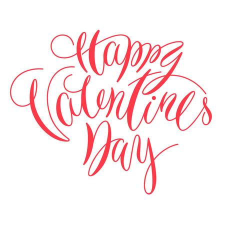 Happy Valentine Day Schriftzug Kalligraphie für Karte oder Poster Standard-Bild - 93479860