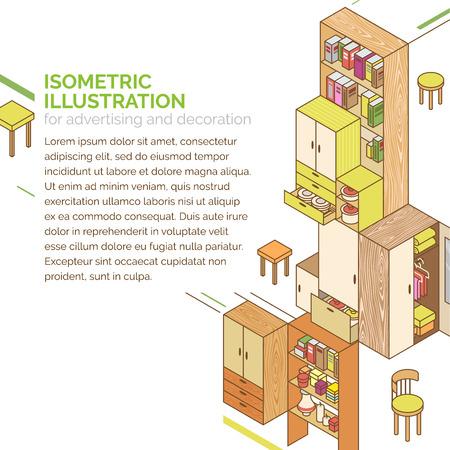 Isometric furniture concept design