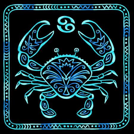Cáncer signo del zodiaco del cangrejo de río Foto de archivo - 23921020