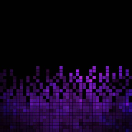 wallpaper   abstract: abstract square pixel mosaic background Illustration