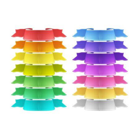 vector ribbons: vector ribbons set