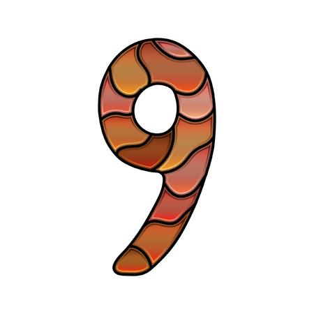 numero nueve: fuente vidrieras, número nueve