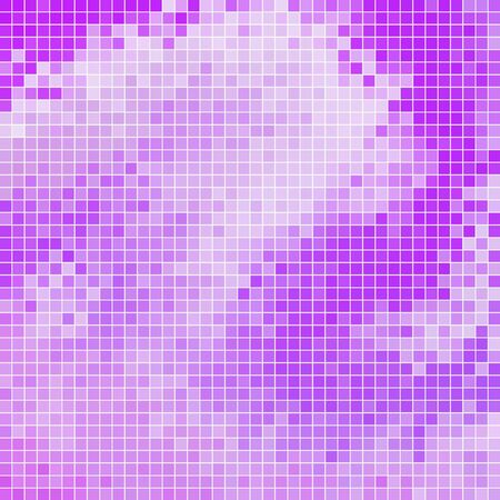 violet purple: abstract square pixel mosaic background Illustration