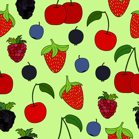 abstract doodle: abstract doodle berry seamless pattern