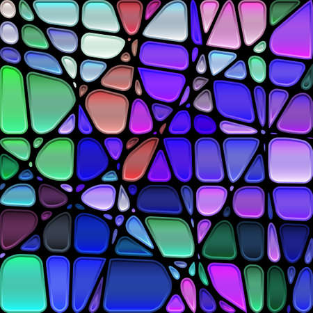 mosaic: abstract stained-glass mosaic  Illustration