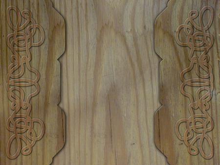 keltische muster: Holz Hintergrund mit keltischem Muster Lizenzfreie Bilder