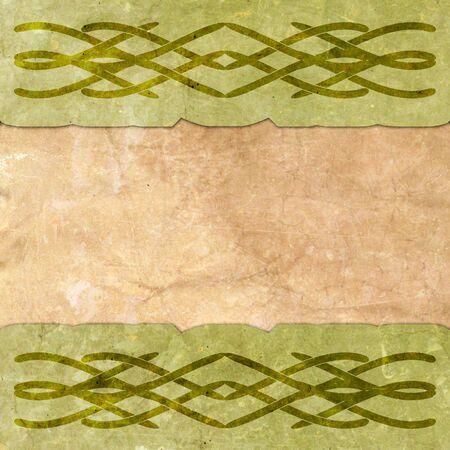 keltische muster: Altes Papier mit keltischem Muster