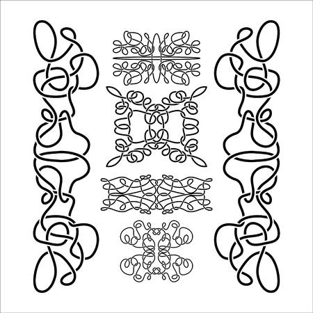 gaelic: traditional vector celtic ornament set