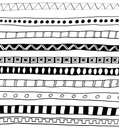 black ink: abstract black ink border set