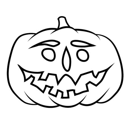 jack'o'lantern: hand drawn jack-o-lantern Illustration