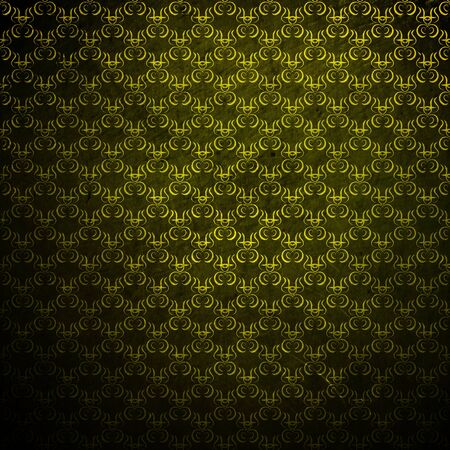 green texture: abstract damask grunge background
