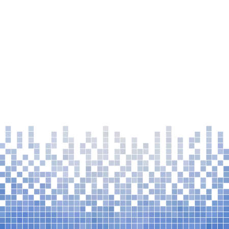 computer art: abstract vector square pixel mosaic background Illustration