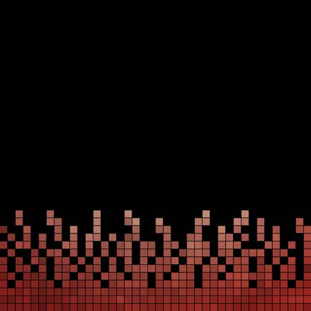 abstract vector square pixel mosaic background Illustration