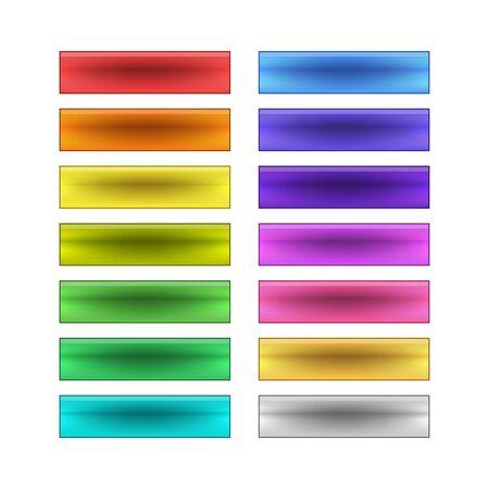 blank button: vector web buttons set