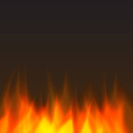 orange inferno: abstract vector fire background