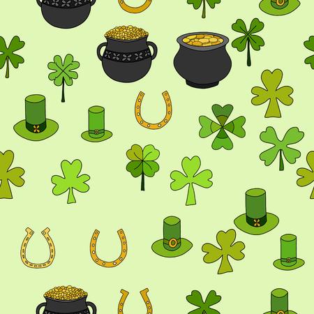 saint: Saint Patricks Day Vector Seamless Illustration
