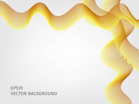 waved: abstract vector waved line background