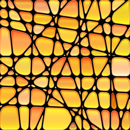 abstrakte muster: abstrakte Vektor-Buntglasmosaikhintergrund Illustration
