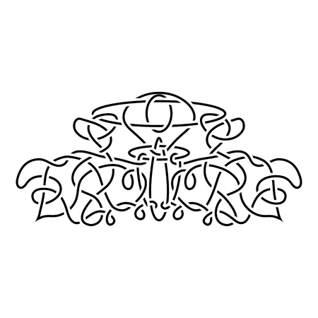 handcarves: traditional vector celtic ornament