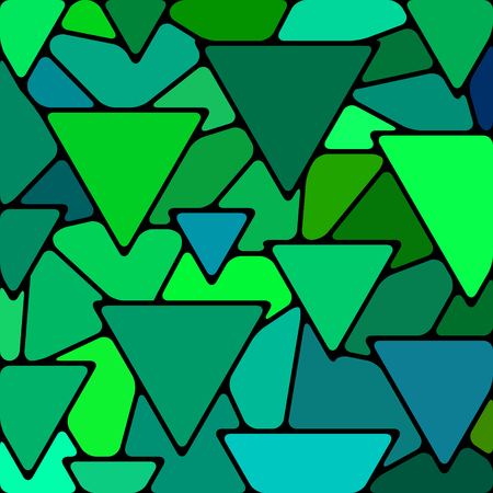 blue glass: abstract vector stained-glass mosaic background