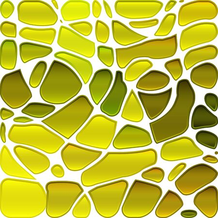 abstract vector stained-glass mosaic background - yellow and green Illustration