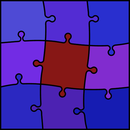 violet red: abstract colored puzzle background - violet and red