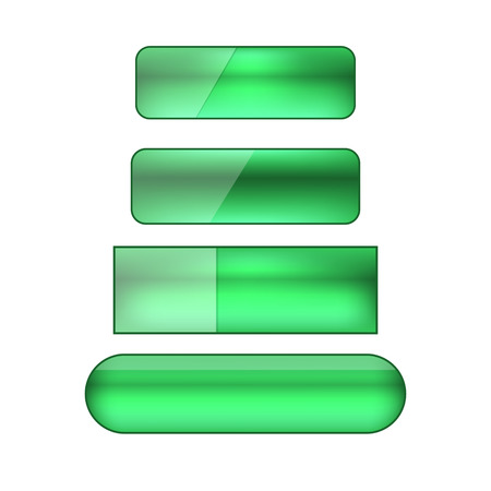 glance: vector colored blank web buttons set - green