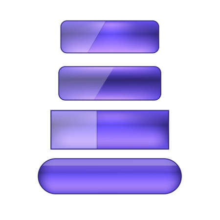 vector colored blank web buttons set - violet