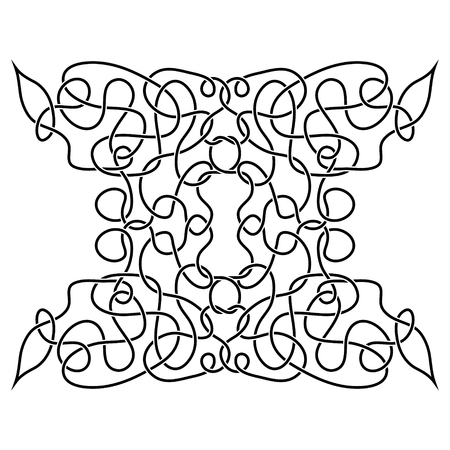 black and white celtic: traditional vector celtic ornament - black and white Illustration