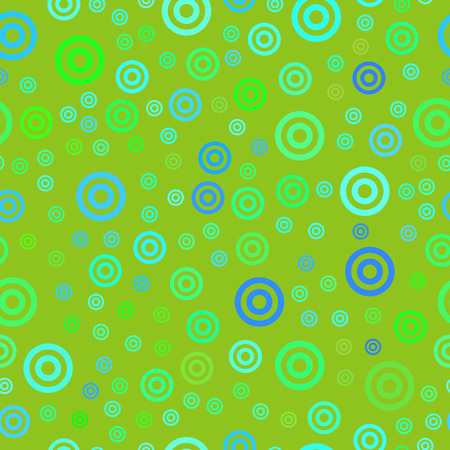 bright colored vector seamless pattern with chaotic double circles