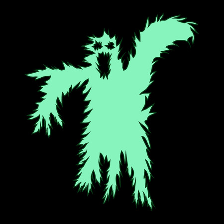 terrible: abstract vector hand drawn scary halloween ghost
