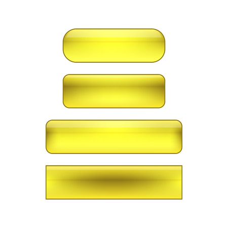 glance: vector isolated blank web buttons set - yellow