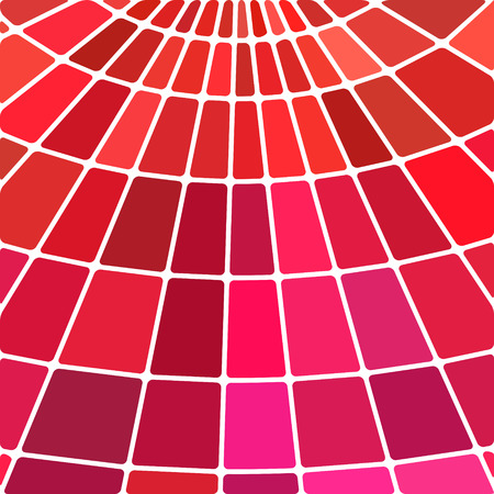 abstract vector stained-glass mosaic background - red and magenta